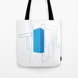 Blueprint #3 (blue) Tote Bag