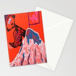 Dino climbing Mt. Rainier Stationery Cards