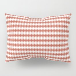 Copper Blurred Horizontal Lines Symmetrical Pattern Pillow Sham