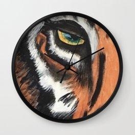 Eye of the Tiger by Noelles Art Loft Wall Clock