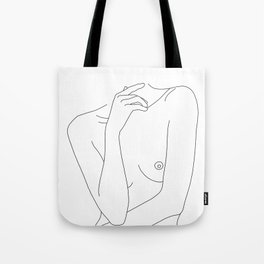 Woman's body line drawing - Cecily Tote Bag