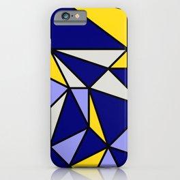Geometric Scandinavian Design II - Navy, Blue, Yellow and White iPhone Case