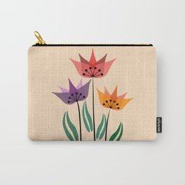 Retro tulips Carry-All Pouch