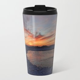 Paddling Sunset Travel Mug
