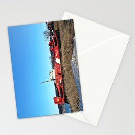 Hovercraft in Town Stationery Cards