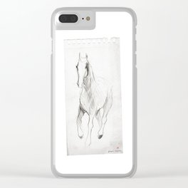 Horse (Notebook) Clear iPhone Case