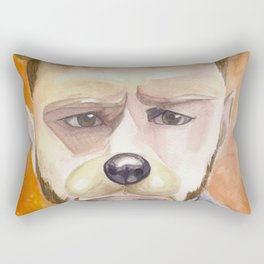 Jensen Ackles, watercolor painting Rectangular Pillow