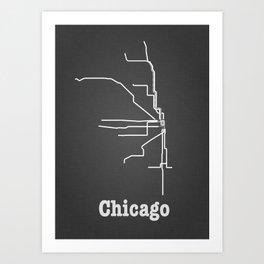 Chicago Subway Poster Art Print