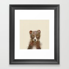 Little grizzly Framed Art Print