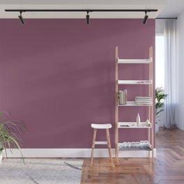 Beckoning Dark Pastel Purple - Pink Solid Color Pairs To Sherwin Williams Grandeur Plum SW 6565 Wall Mural