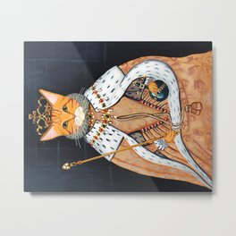 The Ginger Queen's Coronation Metal Print