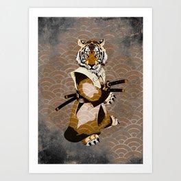 Tiger Samurai Ronin Art Print