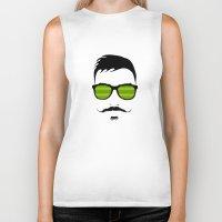 mustache Biker Tanks featuring Mustache by FalcaoLucas