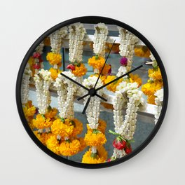 flowers sanctuary Wall Clock