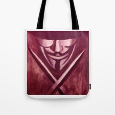 RED for VENDETTA Tote Bag