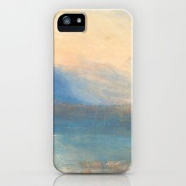 The Lake of Zug by Joseph Mallord William Turner 1843, British iPhone Case