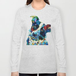 Colorful Dog Art - Irresistible - By Sharon Cummings Long Sleeve T-shirt
