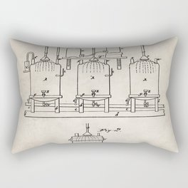 Beer Patent - Brewing Beer Art - Antique Rectangular Pillow