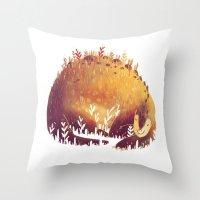dinosaur Throw Pillows featuring DINOSAUR by rafael mayani