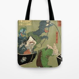 The Greedy Old Woman with a Box of Demons Tote Bag