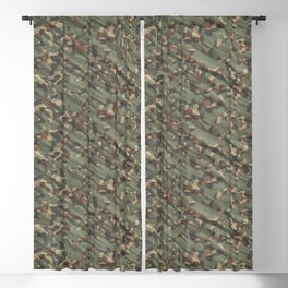 Green Army Camouflage Blackout Curtain