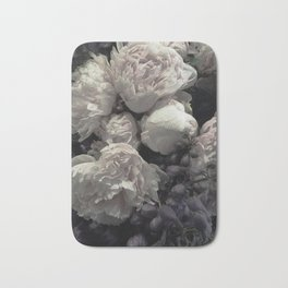 Peonies pale pink and white floral bunch Bath Mat