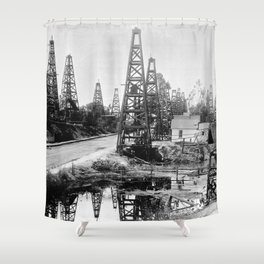 Los Angeles, Toluca Street, ca.1895-1901 Shower Curtain