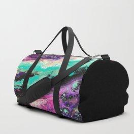 Universe Acrylic Pour Duffle Bag