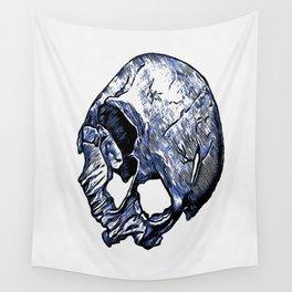 Human Skull Wall Tapestry