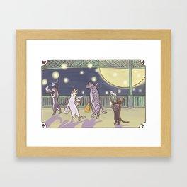 Cat Parade Framed Art Print