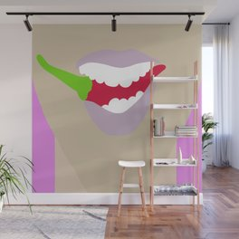 Hot Chili Mouth Flat Graphic Wall Mural