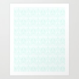 Miami Beach Motel- Mint Art Print