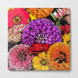 Power Flowers Metal Print