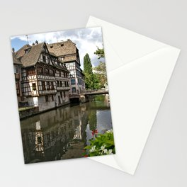 France Photography - Medieval Houses By The River In Strasbourg Stationery Cards
