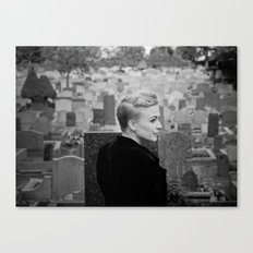 Lady of the churchyard Canvas Print