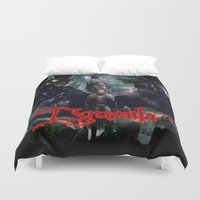 dracula Duvet Covers featuring Dracula by nurfiestore2u