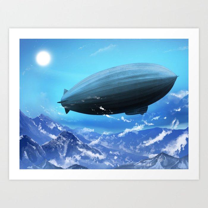 Rigid airship Kunstdrucke