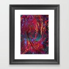 Marbled Galaxy Framed Art Print