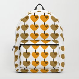 Summer Gold & Coffee Heart Strings Backpack