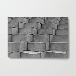 Concrete Thoughts on Concrete Steps Metal Print