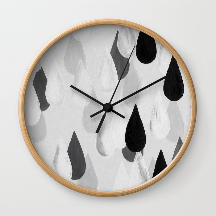 No. 9 - Raindrops Wall Clock