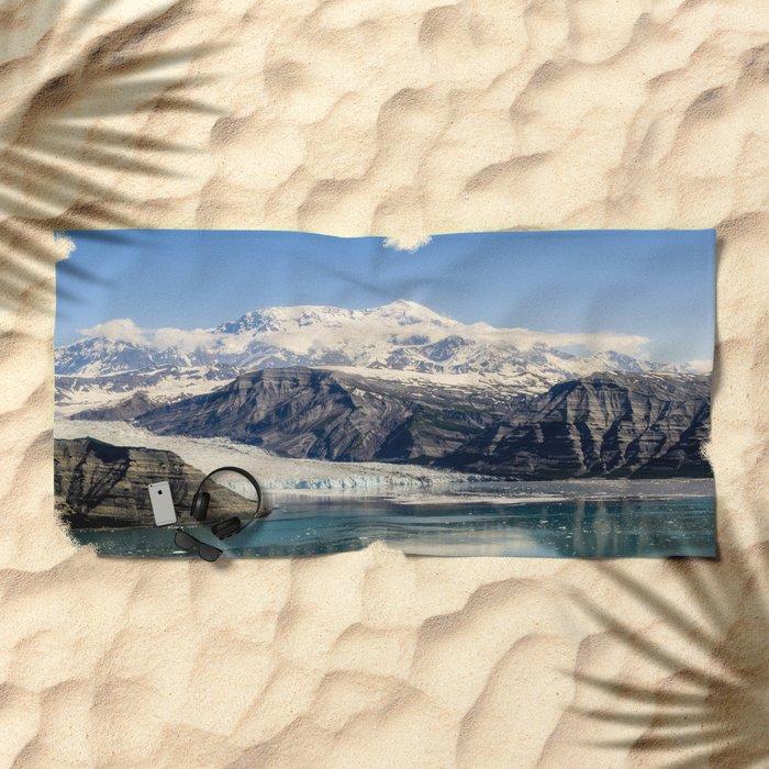 Mountain Lake Landscape Beach Towel