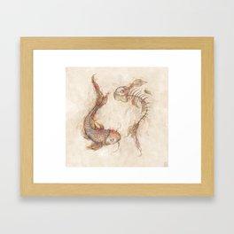 Yin Yang Fish Framed Art Print