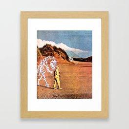 Walk with Dinosaur Framed Art Print