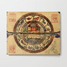Vintage Constellation Chart 1549 Metal Print