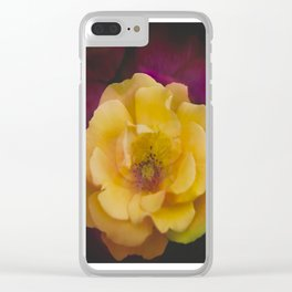 Roses (double exposure version) Clear iPhone Case