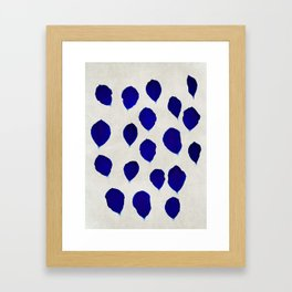 blue blossom Framed Art Print