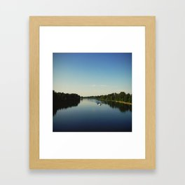 Boating on the Willamette Framed Art Print