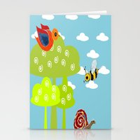 bee Stationery Cards featuring bee by BruxaMagica_susycosta