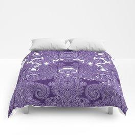 paisley vine in deep purple Comforters